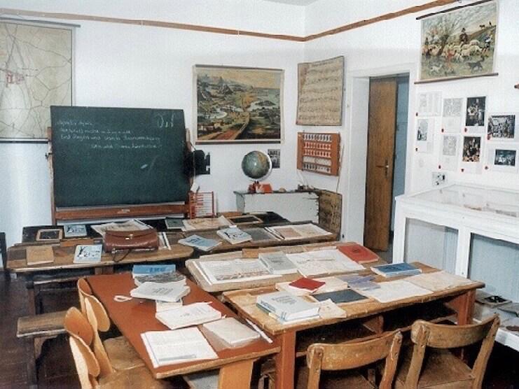 Das Heimatmuseum Friedrichstal - Altes Klassenzimmer der Friedrichstaler Schule